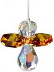 Schutzengel Swarovski-Elements Topaz 3 cm, am Stahldraht Schutzengel Geschenke