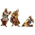 Ulrich Krippe Drei Heilige Könige 3 tlg Holz Weihnachtskrippe Südtirol