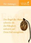 Engel des Mutes Bronzeplakette mit Kärtchen und Kordel Schutzengel Geschenke