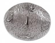 Kerzenständer 4 christliche Symbole Silberbronze 11, 5 cm