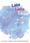 Geburtstagskarte mit Glasröhrchen Alles Liebe (3 Stck) Glückwunschkarte
