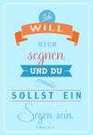 Klappkarte Ich will dich segnen (6 Stck) Grußkarte Bibelwort 1. Mose Kuvert