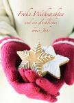 Postkarte Frohe Weihnachten Neues Jahr (10 Stck) Lebkuchen Weihnachtskarte