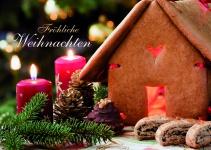 Weihnachtskarte Fröhliche Weihnachten (10 Stck) Postkarten Adressfeld