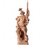 Heiliger Florian Holzfigur, geschnitzt gebeizt Südtiroler Schnitzkunst