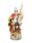 Heiliger Florian mit Haus handbemalt 35 cm