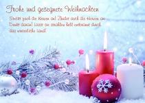 Postkarte Frohe und gesegnete Weihnachten (10 Stck) Kerzen Weihnachtskarte