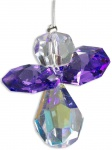 Schutzengel Swarovski-Elements Violett 3 cm, am Stahldraht Schutzengel Geschenke
