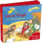 Der kleine Engel und das Jesuskind 23 Teile Spielkrippe zum Selberbasteln
