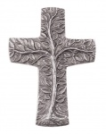 Wandkreuz Lebensbaum Silberbronze 10 cm