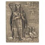 Namenstag Ludger Bronzeplakette 13 x 10 cm