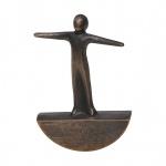Bronzefigur Balance 8 cm Bronze Skulptur Bronze Figur
