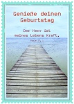 Postkarte zum Geburtstag Genieße deinen Geburtstag (10 Stck) Glückwunschkarte