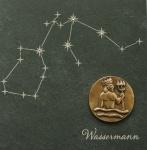 Wandrelief Sternzeichen Wassermann Schiefer Swarovski
