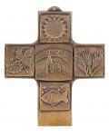 Kommunionkreuz christliche Symbole 10 cm Geschenk zur Kommunion
