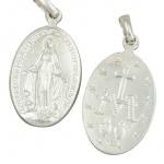 Wunderbare Wundertätige Medaille 18 mm 925 Sterlingsilber