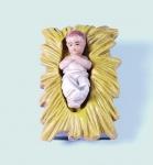 Tiroler Krippe Kind bunt bemalt 12 cm Krippen Figur Weihnachten