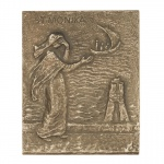 Namenstag Monika Bronzeplakette 13 x 10 cm Namenspatron