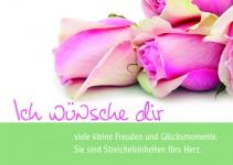 Glückwunschkarte Ich wünsche dir (10 Stck) Sinnspruch Grußkarte Postkarte