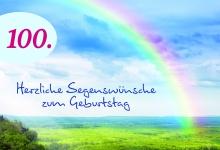 Geburtstagskarte 100. Herzliche Segenswünsche (3 St.) Glückwunschkarte Kuvert