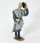 Krippenfigur Hirte alt Heimat-Krippe 60 cm Krippen Figur Weihnachten