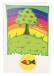 Glückwunschkarte mit Radiergummi Zur Erstkommunion (5 St) Baum Grußkarte