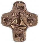 Kommunion Kreuz Ich bin bei dir Bronze 9 cm Symbolkreuz zur Erstkommunion