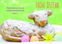 Postkarte zu Ostern Frohe Ostern (10 Stck)