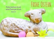 Postkarte zu Ostern Osterlamm Frohe Ostern (10 Stck) Glückwunschkarte