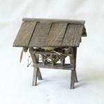 Futtertraufe, handgefertigt aus Holz 10 x 10 x 10 cm