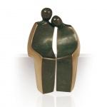 Bronzefigur Trautes Paar 2-tlg, 14 cm Kött-Gärtner Bronze Figur Liebespaar