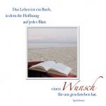 Glückwunschkarte Wünsche (3 Stck) Sprichwort Das Leben ist ein Buch Grußkarte