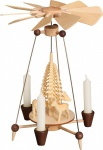 Weihnachtspyramide Nadelpyramide Rehe 25 cm Seiffen Erzgebirge Handarbeit