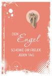 Klappkarte mit Bronze-Engel Dein Engel schenke dir (5 St) Grußkarte Kuvert