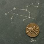 Wandrelief Sternzeichen Löwe 14, 5 cm Schiefer Swarovski Schiefertafel