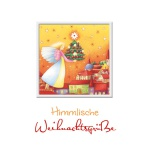 Weihnachtskarte Himmlische Weihnachtsgrüße (3 Stck) Prägemotiv Kuvert