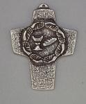 Wandkreuz Neusilber Brot und Wein 10 cm Erstkommunion Kreuz Peters Jürgen NEU