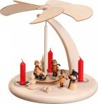 Weihnachtspyramide Bogen Winterkinder 25 cm Seiffen Erzgebirge Handarbeit