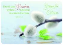 Postkarte Zweig zu Ostern Gesegnete Ostern (10 Stck) Grusskarte Adressfeld