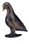 Bronzeskulptur Taube stehend 20 cm Tierfigur aus Bronze