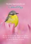 Postkarte Herzliche Segenswünsche zum Geburtstag (10 St) Vögelchen Lutherbibel