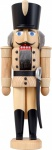 Nussknacker Husar natur 28 cm Holz-Figur Handarbeit aus Seiffen im Erzgebirge
