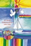 Postkarte mit Glasmagnet Zu deiner Erstkommunion (3 Stck) Grußkarte Kommunion