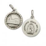 Medallion Wies Kirche, Gegeißelter Heiland Ø 1, 4 cm Christlich Religiöser Schmuck