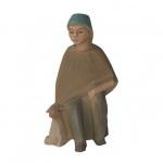 Krippenfigur Hirte sitzend mit Schaf Dorf-Krippe Krippen Figur Weihnachten