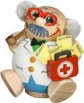 Räuchermännchen Arzt 10 cm Seiffen Erzgebirge Handarbeit Holzfigur