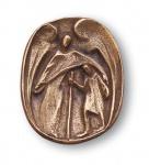 Schutzengel Autoplakette Bronze selbstklebend 5 cm