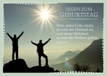 Postkarte zum Geburtstag Psalm 36 Segen (10 Stck) Glückwunschkarte