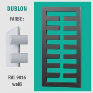 DUBLON - BADHEIZKÖRPER MITTELANSCHLUSS HEIZKÖRPER (Farbe: RAL 9016 weiß, Höhe: 450 mm)