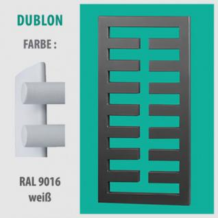 DUBLON - BADHEIZKÖRPER MITTELANSCHLUSS HEIZKÖRPER (Farbe: RAL 9016 weiß, Höhe: 750 mm)